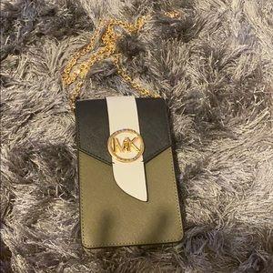 Mk Saffiano Leather Phone crossbody bag